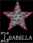 star rhinestone transfer iron on for T shirt