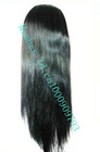 "Stock 16""-20"" Full Lace Wig Silky Straight Brazilian Remy Hair Lace Wigs Free"
