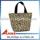 fashion leopard canvas shopping bag