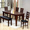 Wood Dining Table With Bench Chair 2314