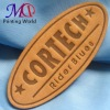 Embossed garment leather label