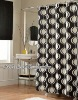 100%polyester printed bathroom ogee shower curtains