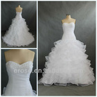 WR-020 Sweetheart Ruffle Organza 2012 Wedding Dress
