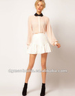 Teenage Mini Skirt With Peplum Frill Hem