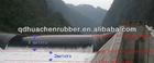 The job location of rubber dam in Indonisia