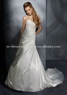 LM8868 charming a line embroidered pearl white wedding dress