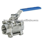 3PC stainless/Carbon steel ball valve with lock/Key