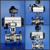 100A-HB2510 flow control ball valve with pneumatic pistion actuator