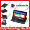 "360 Degree Rotatory Stand Leather Case for Samsung Galaxy Tab Plus 7.7"" Inch P6800 P6810 with Elastic Strip"