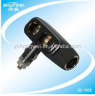 New style 3-Way Car Cigarette Lighter Socket Splitter DC 12V +USB