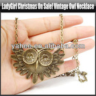 Fashion Vintage Owl Necklace Long Pendant Necklace Coat Chain Lady Girl, Gift Idea, Gift Box Included, YFA324A