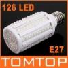 7W E27 360 Degree 6500K 126 LED Corn Light Bulb Energy Saving Lamp