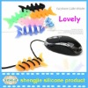silicone warp headphones fishing line winder