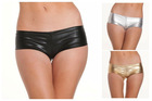 New PVC Faux Leather Lace Boyleg Hot Pants Short Mini Ladies Panties Underwear