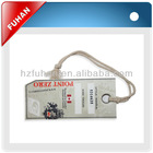 Customized hangtags with eyelet for men's suit