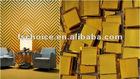 25x25mm chip glitter crystal glass mosaic tile art in golden color