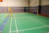 Badminton sports floor (indoor use)