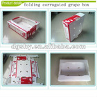 Customized folding and stacking plastic fruit crates