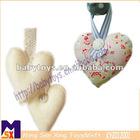 elegant hanging fabric heart decoration for wedding,decorative hanging heart