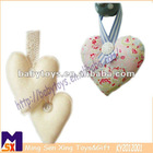 elegant hanging fabric heart decoration for wedding,decorative hanging heart