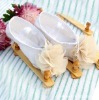2012 New style Cute!!! Print baby shoes with flower