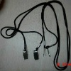 Elastic Cord Lanyard with Metal Hook