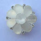 white acrylic flower brooch