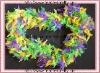 MARDI GRAS Feather Boa Fluffy Purple Green Gold SPARKLE