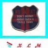 woven badge label