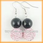 Fashion agate shamballa beads earring
