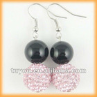 Fashion agate shamballa beads earring