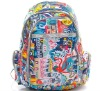 2012 Fashion features abstract big capacity colorful backpack