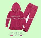2012 lady plus size velour jogging suits