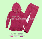 2012 lady plus size velour jogging suits