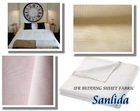 100% polyester inherently fire retardant fabric for bed sheet