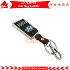 Hyundai car key chain,remote housin case chains,can match with car alarm remotes,PU leather+alloy material,free shipping!
