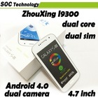 New Arrival MTK6577 S3 ZHOUXING I9300 Mobile Phone 4.7 inch 1GHZ android 4.1 512MB RAM 4GB ROM 3G Cellphone Unlocked