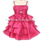 Free Shipping 2012 Taffeta Spaghetti Strap Floor Length Flower Girl Dress JYFD041