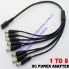 DC Female 1 to 8 Male Power Cables for CCTV Camera