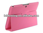 Ultra thin Faux Leather Tablet Protective Case Stand for BlackBerry Playbook Pink
