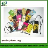 sublimation printed mobilephone bag