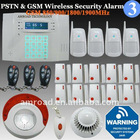 40Zones LCD Display PSTN and GSM Dual Network Quad Band Wireless Home Security Burglar Burglar Intruder Alert Alarm System ST-IV