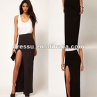Cheap Wholesale Skirt! New Fashion Maxi Skirt with Thigh High Split (SK2105)