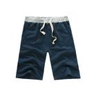 wholesale men's shrink resistant plain blue sport shorts