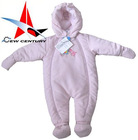 polyester plain colour babies' overall with padding,garments