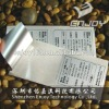 Metalized matte silver polyester asset tracking label