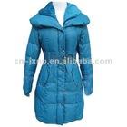 slim warm long padded coat women on sale