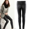 women in tight leather pants
