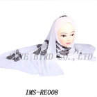 long embroidery hijab scarf