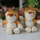Lovely stuffed & short plush toys lion in plush animal toy